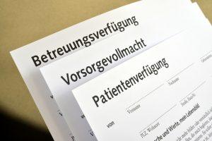 Patientenverfgung, Vorsorgevollmacht, Betreuungsverfgung, Formulare, Alter, Krankheit, Demenz, Betreuer, Willenserklrung Medizinrecht